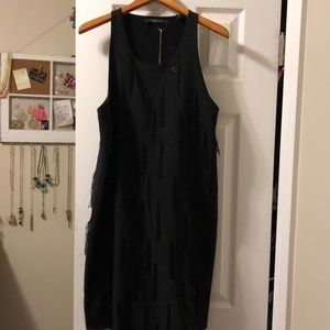 Scotch & Soda Black fringe dress